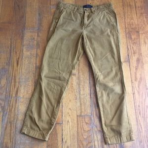 J. Crew Sunday Slim chinos in gold